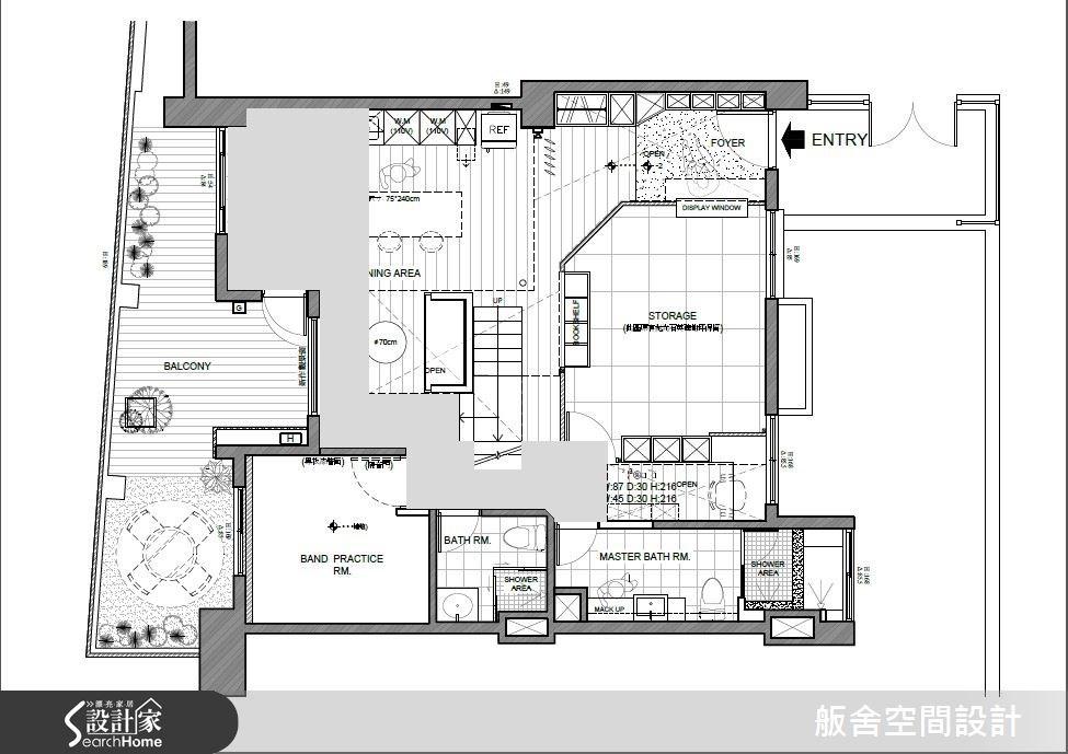 50坪中古屋(5~15年)_混搭風案例圖片_舨舍空間設計有限公司_舨舍_22之14