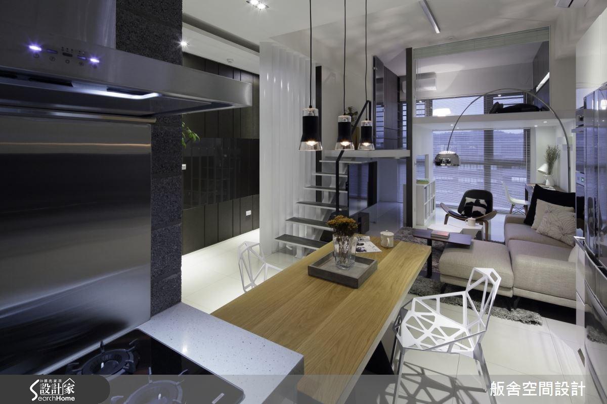 28坪新成屋(5年以下)_混搭風客廳餐廳樓梯案例圖片_舨舍空間設計有限公司_舨舍_25之3