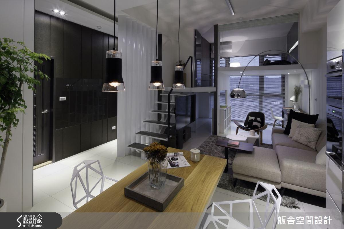 28坪新成屋(5年以下)_混搭風客廳餐廳樓梯案例圖片_舨舍空間設計有限公司_舨舍_25之5