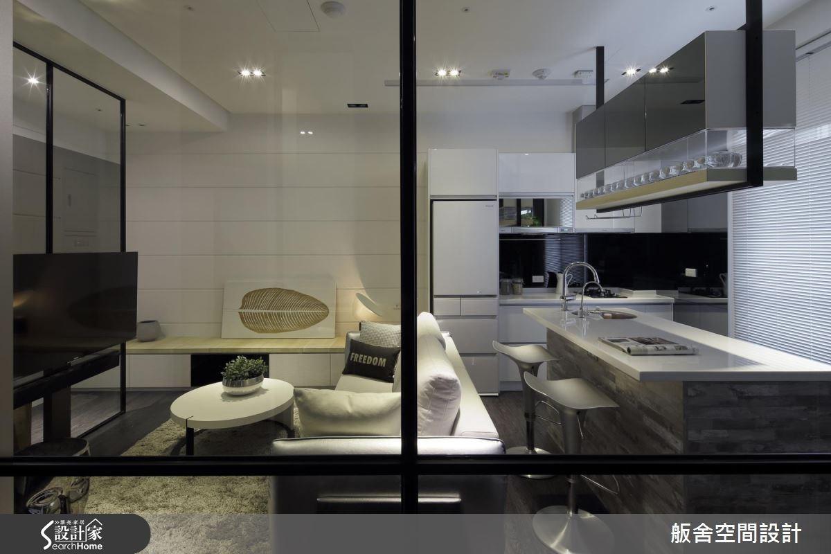18坪新成屋(5年以下)_現代風客廳廚房吧檯案例圖片_舨舍空間設計有限公司_舨舍_34之3
