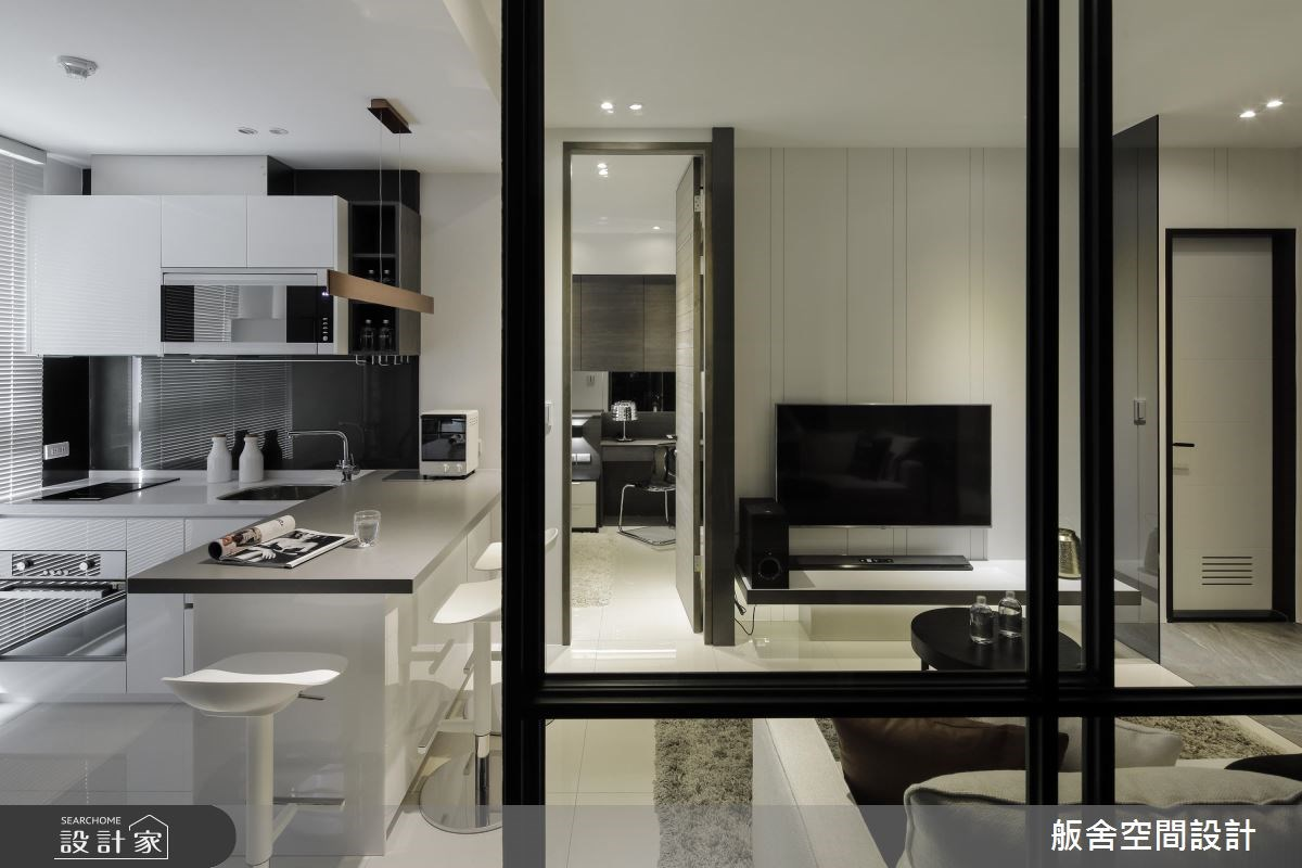 16坪新成屋(5年以下)_現代風客廳廚房吧檯案例圖片_舨舍空間設計有限公司_舨舍_42之9