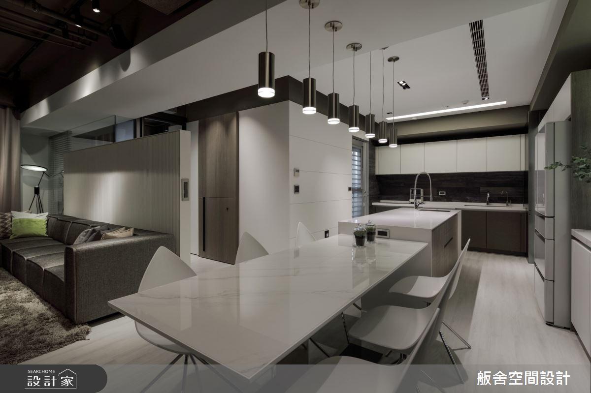 50坪新成屋(5年以下)_現代風客廳餐廳吧檯案例圖片_舨舍空間設計有限公司_舨舍_59之12
