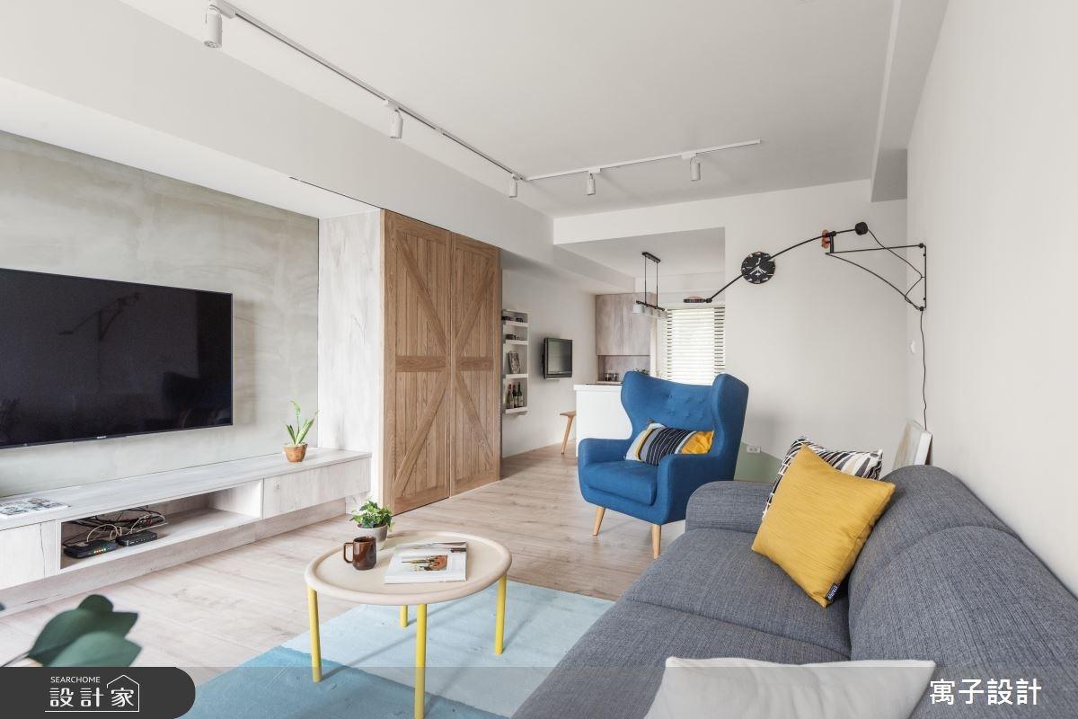 35坪新成屋(5年以下)_北歐風客廳案例圖片_寓子設計_寓子_北歐20° I之4