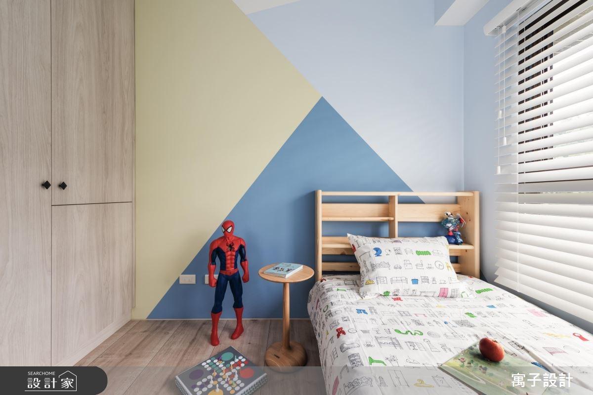 35坪新成屋(5年以下)_北歐風臥室案例圖片_寓子設計_寓子_北歐20° I之14