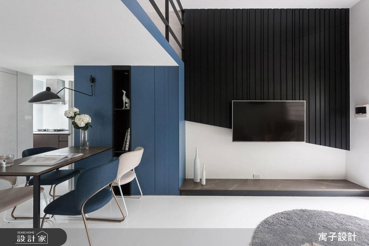 23坪新成屋(5年以下)_現代風客廳案例圖片_寓子設計_寓子_爵士BLUES I之2