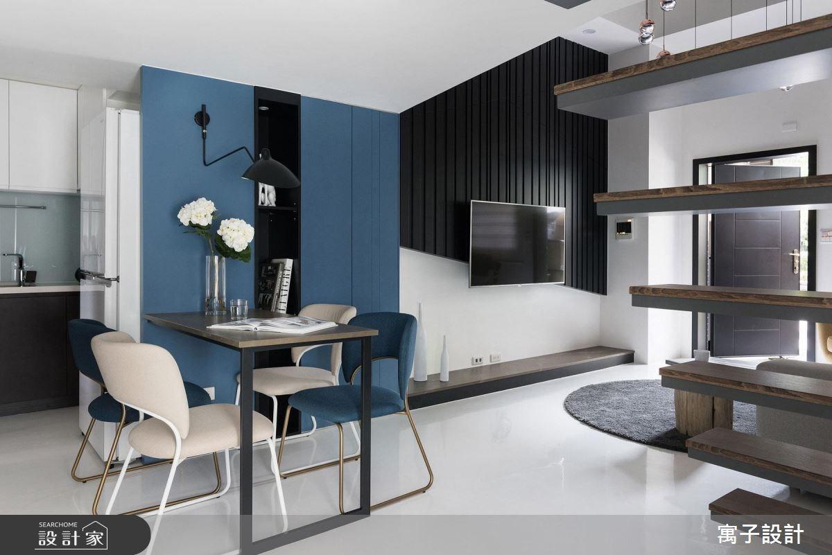 23坪新成屋(5年以下)_現代風餐廳案例圖片_寓子設計_寓子_爵士BLUES I之3