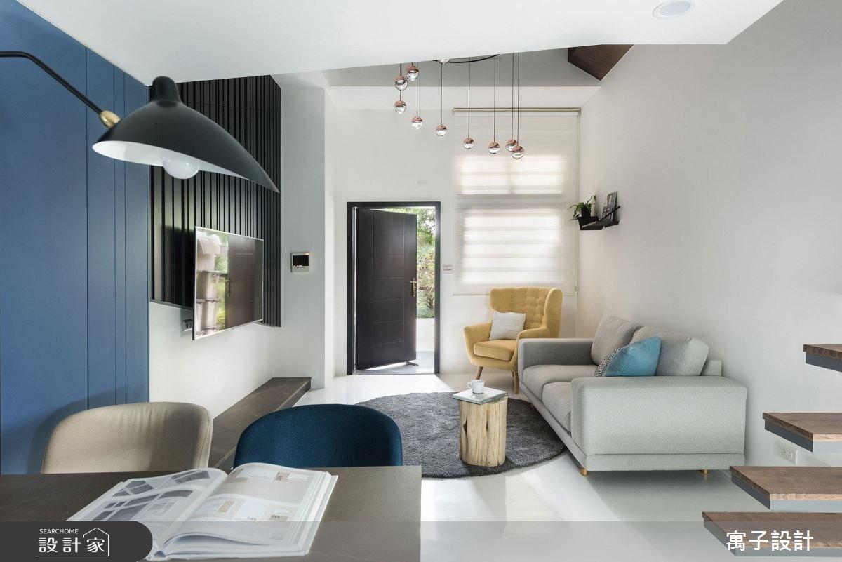 23坪新成屋(5年以下)_現代風客廳案例圖片_寓子設計_寓子_爵士BLUES I之4