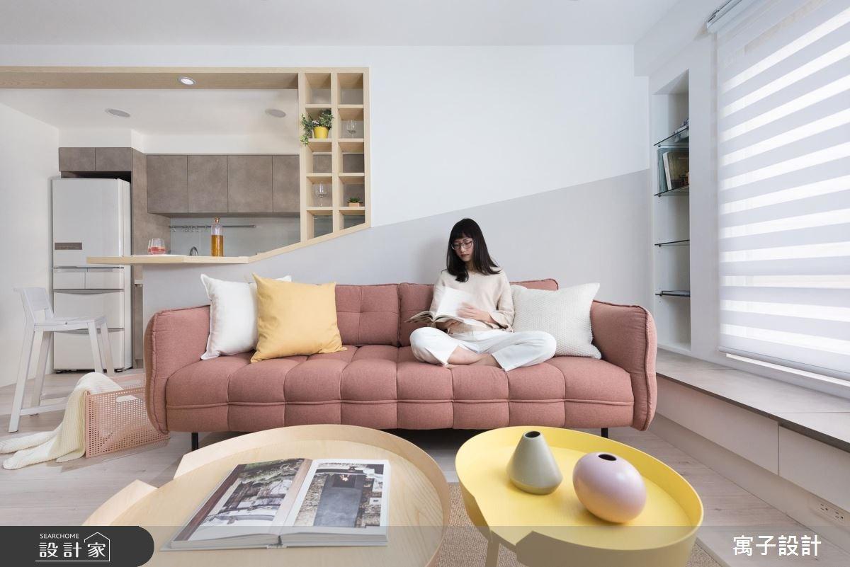 20坪老屋(16~30年)_北歐風客廳案例圖片_寓子設計_寓子_春漾之3