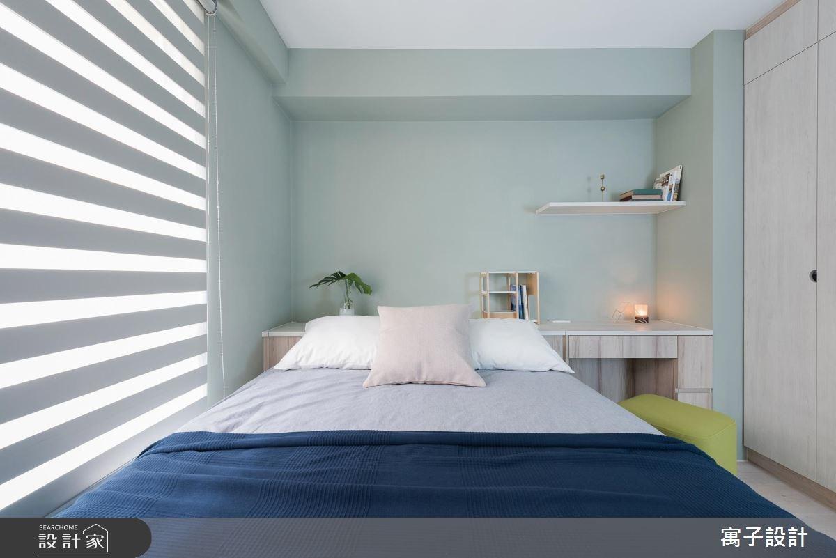 20坪老屋(16~30年)_北歐風臥室案例圖片_寓子設計_寓子_春漾之12