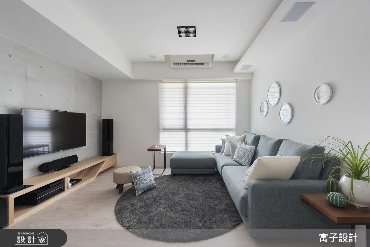 30坪新成屋(5年以下)_北歐風客廳案例圖片_寓子設計_寓子_溫。沐光 I之3
