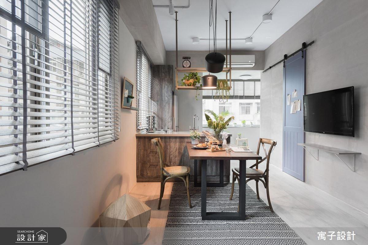 12坪老屋(16~30年)_北歐風餐廳案例圖片_寓子設計_寓子_倆倆之2