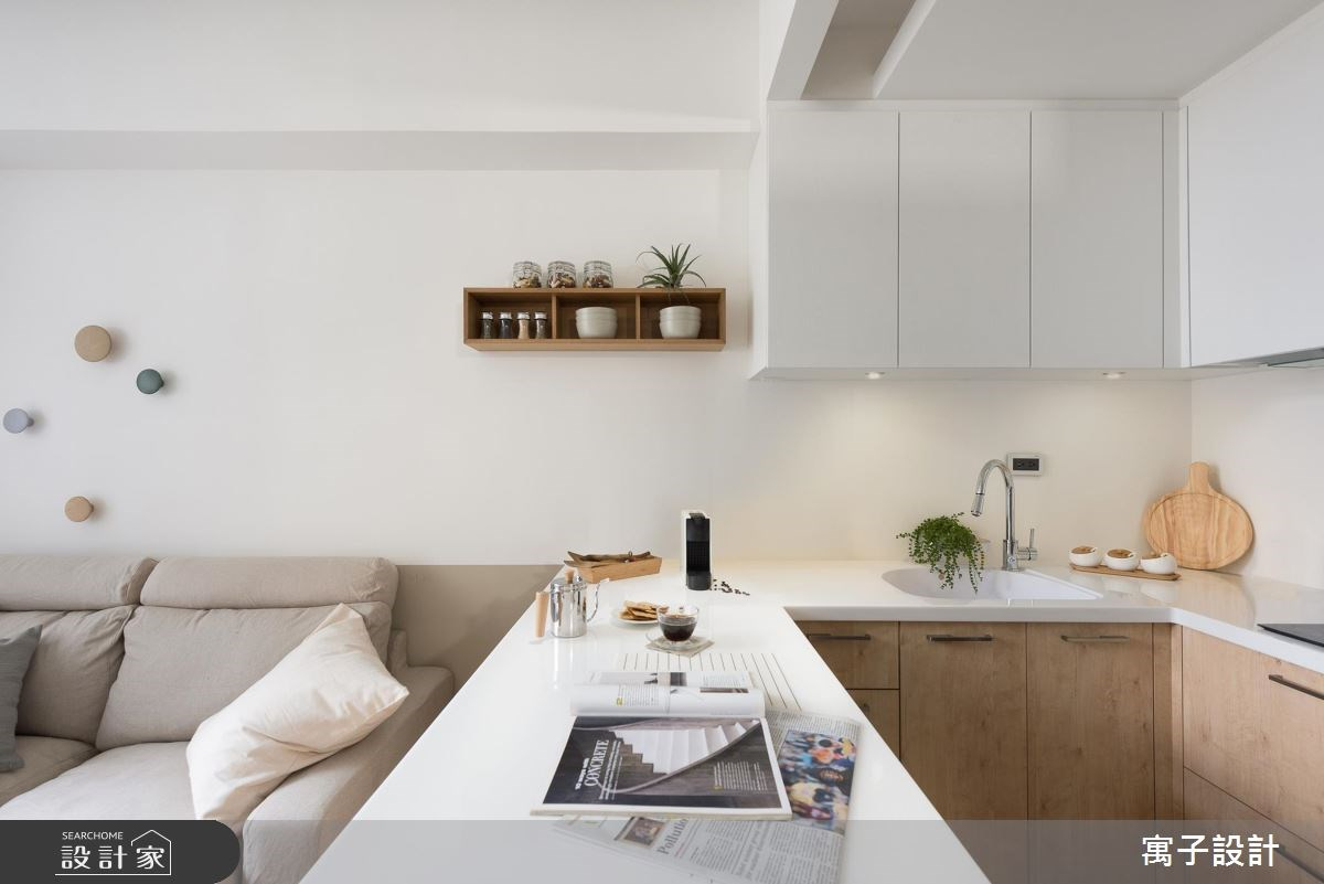 11坪新成屋(5年以下)_北歐風餐廳吧檯案例圖片_寓子設計_寓子_早安,日和 !之3