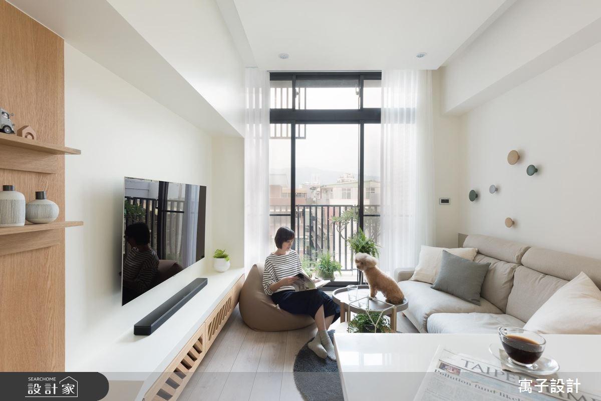 11坪新成屋(5年以下)_北歐風客廳案例圖片_寓子設計_寓子_早安,日和 !之4