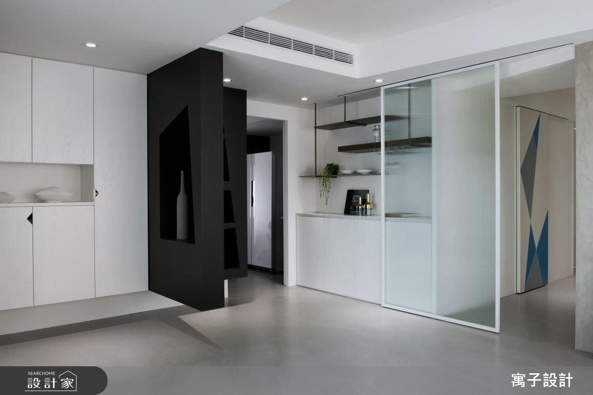 40坪老屋(16~30年)_現代風玄關案例圖片_寓子設計_寓子_12.F之3