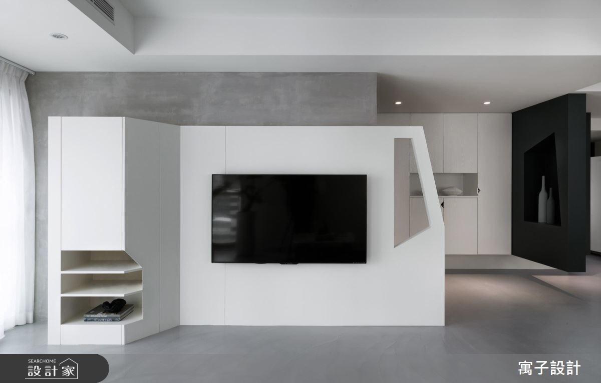 40坪老屋(16~30年)_現代風客廳案例圖片_寓子設計_寓子_12.F之4