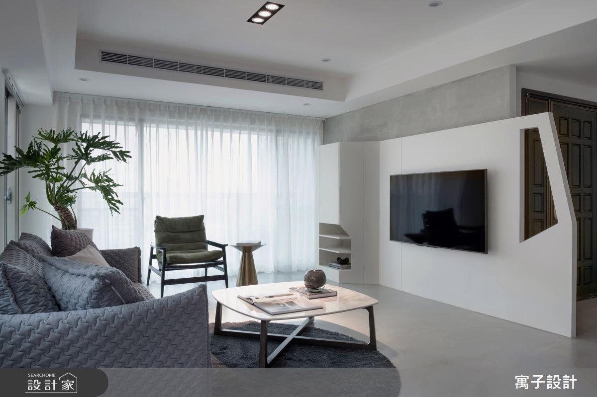 40坪老屋(16~30年)_現代風客廳案例圖片_寓子設計_寓子_12.F之5