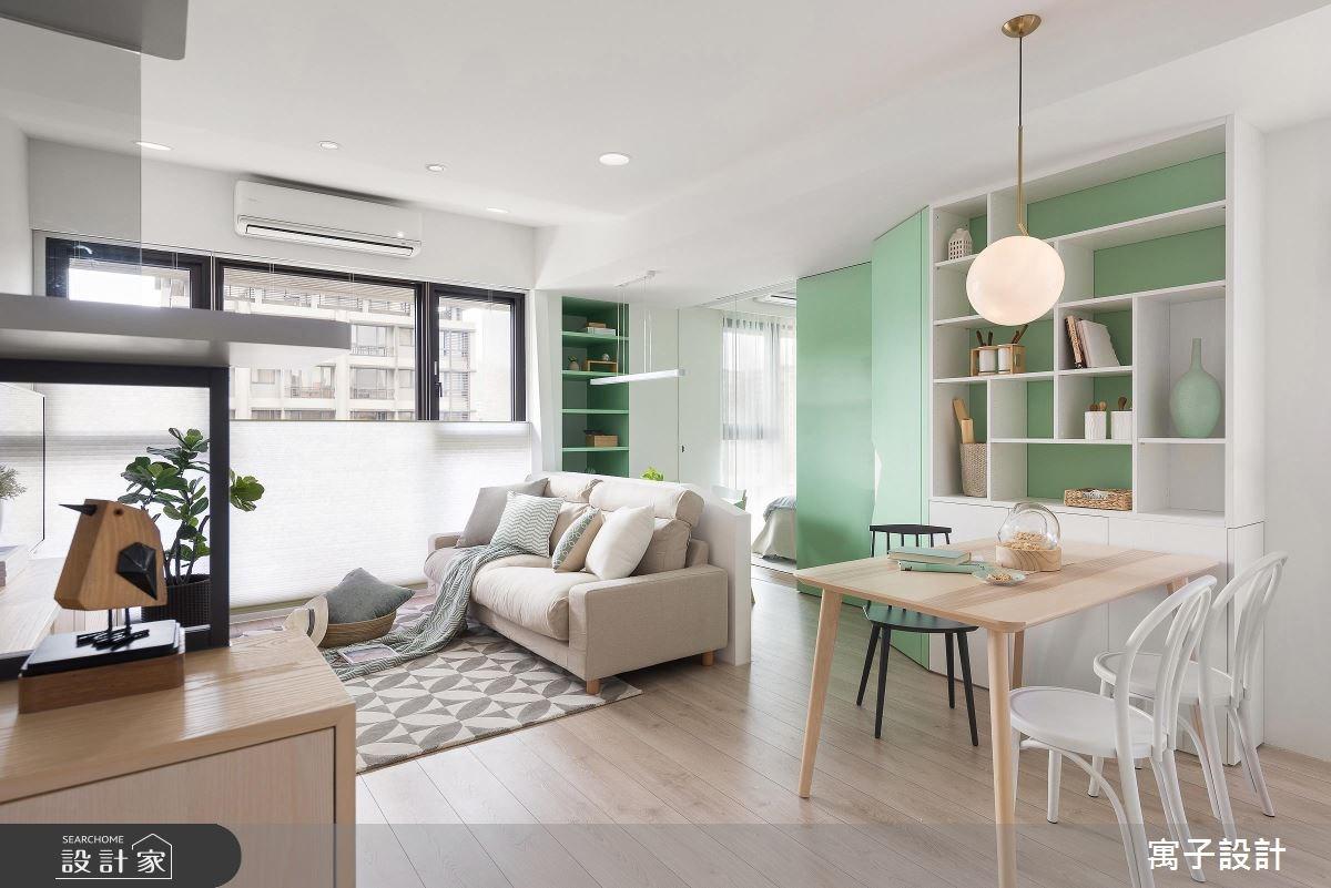 20坪新成屋(5年以下)_北歐風客廳案例圖片_寓子設計_寓子_popcorn之2
