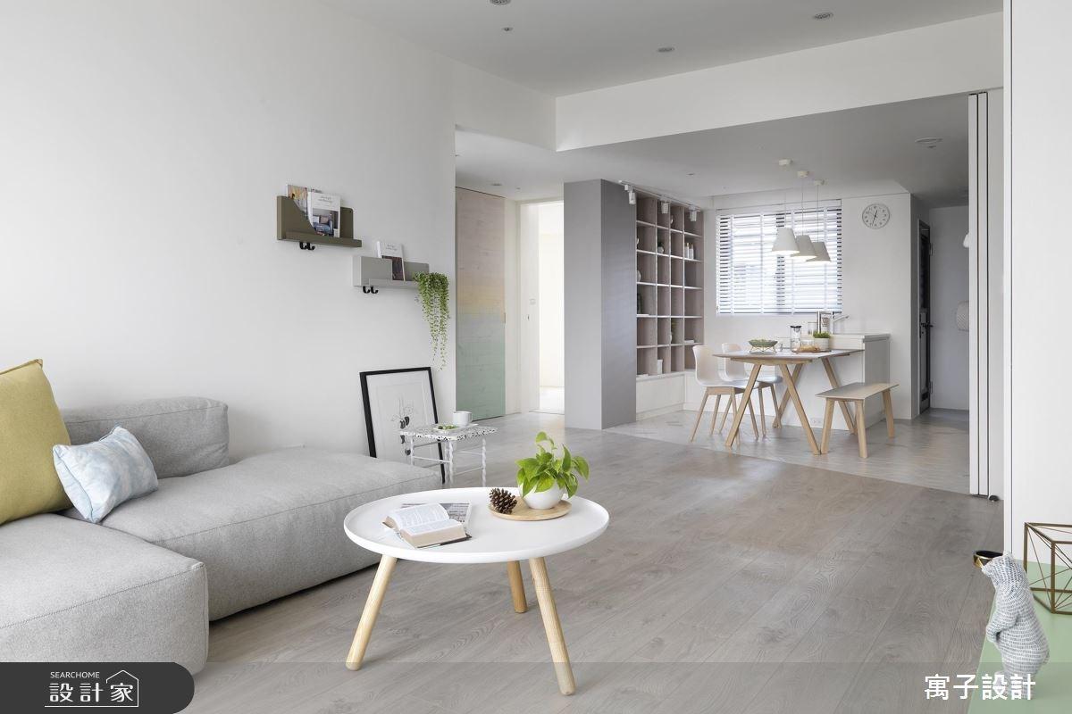 21坪老屋(16~30年)_北歐風客廳案例圖片_寓子設計_寓子_白色畫布之3