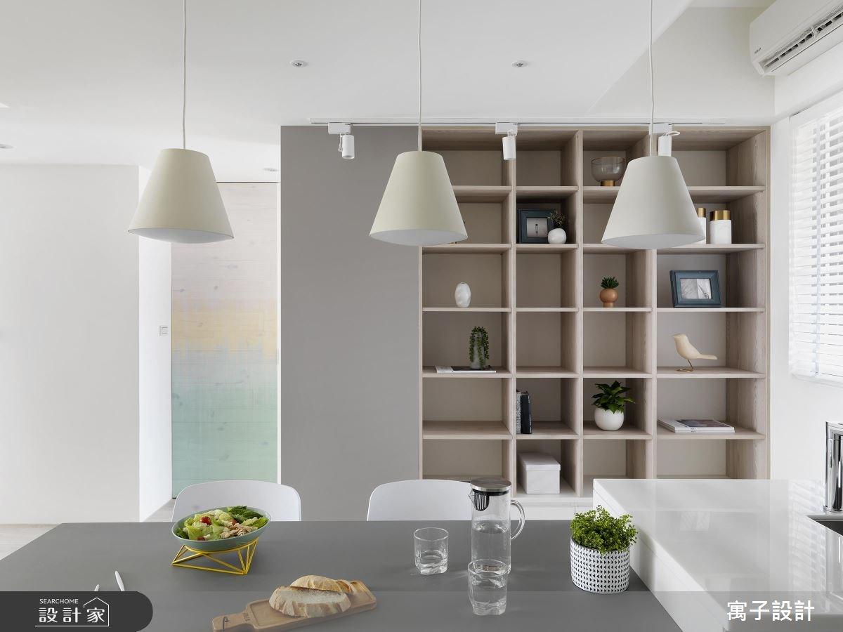 21坪老屋(16~30年)_北歐風餐廳案例圖片_寓子設計_寓子_白色畫布之4