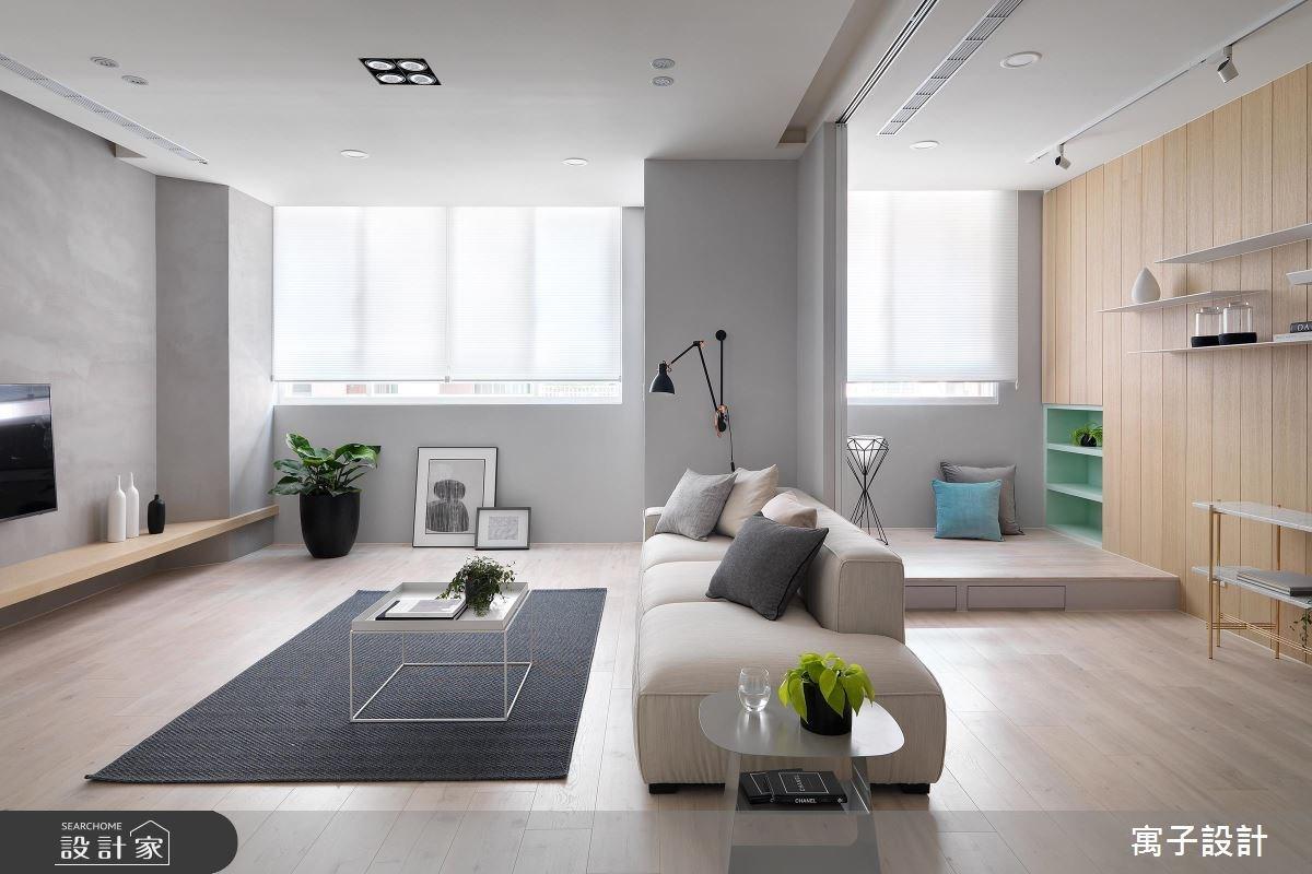 40坪老屋(16~30年)_北歐風客廳案例圖片_寓子設計_寓子_Gary Star之3