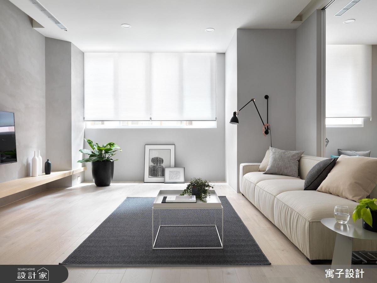 40坪老屋(16~30年)_北歐風客廳案例圖片_寓子設計_寓子_Gary Star之4