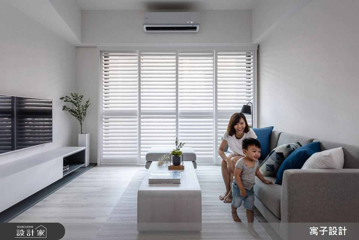 30坪新成屋(5年以下)_北歐風客廳案例圖片_寓子設計_寓子_Water Blue之3