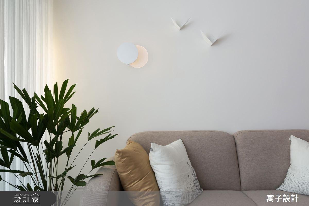 25坪新成屋(5年以下)_北歐風客廳案例圖片_寓子設計_寓子_翩翩之4