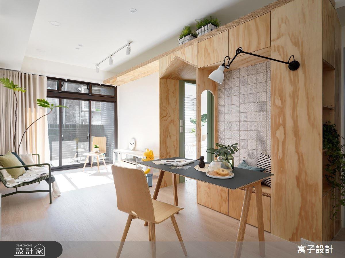 17坪新成屋(5年以下)_北歐風餐廳案例圖片_寓子設計_寓子_森木木之2