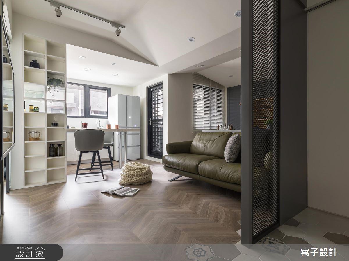 22坪新成屋(5年以下)_雅痞風客廳案例圖片_寓子設計_寓子_陸層之1