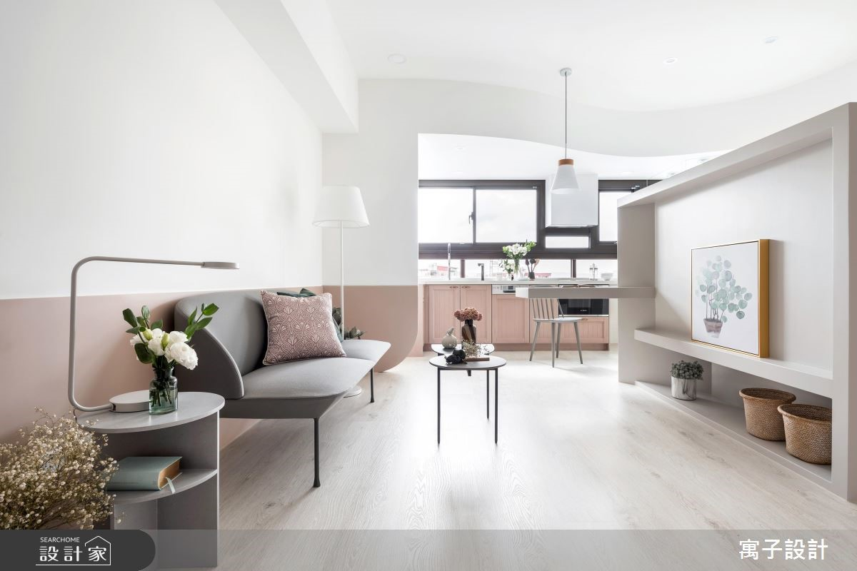 19坪新成屋(5年以下)_北歐風客廳案例圖片_寓子設計_寓子_Hebbe之3