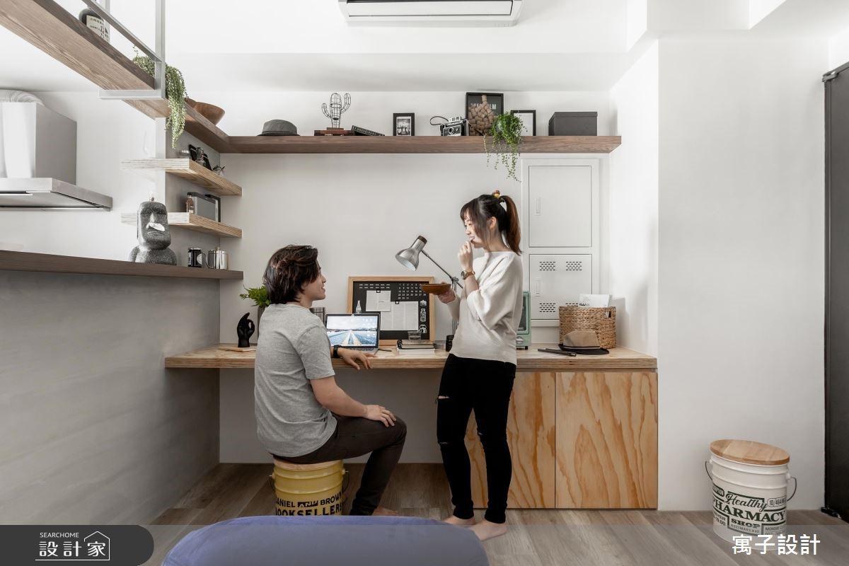16坪新成屋(5年以下)_北歐風工作區案例圖片_寓子設計_寓子_豆米屋之3