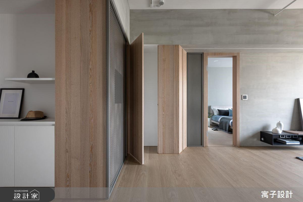 30坪新成屋(5年以下)_北歐風玄關案例圖片_寓子設計_寓子_H°之3