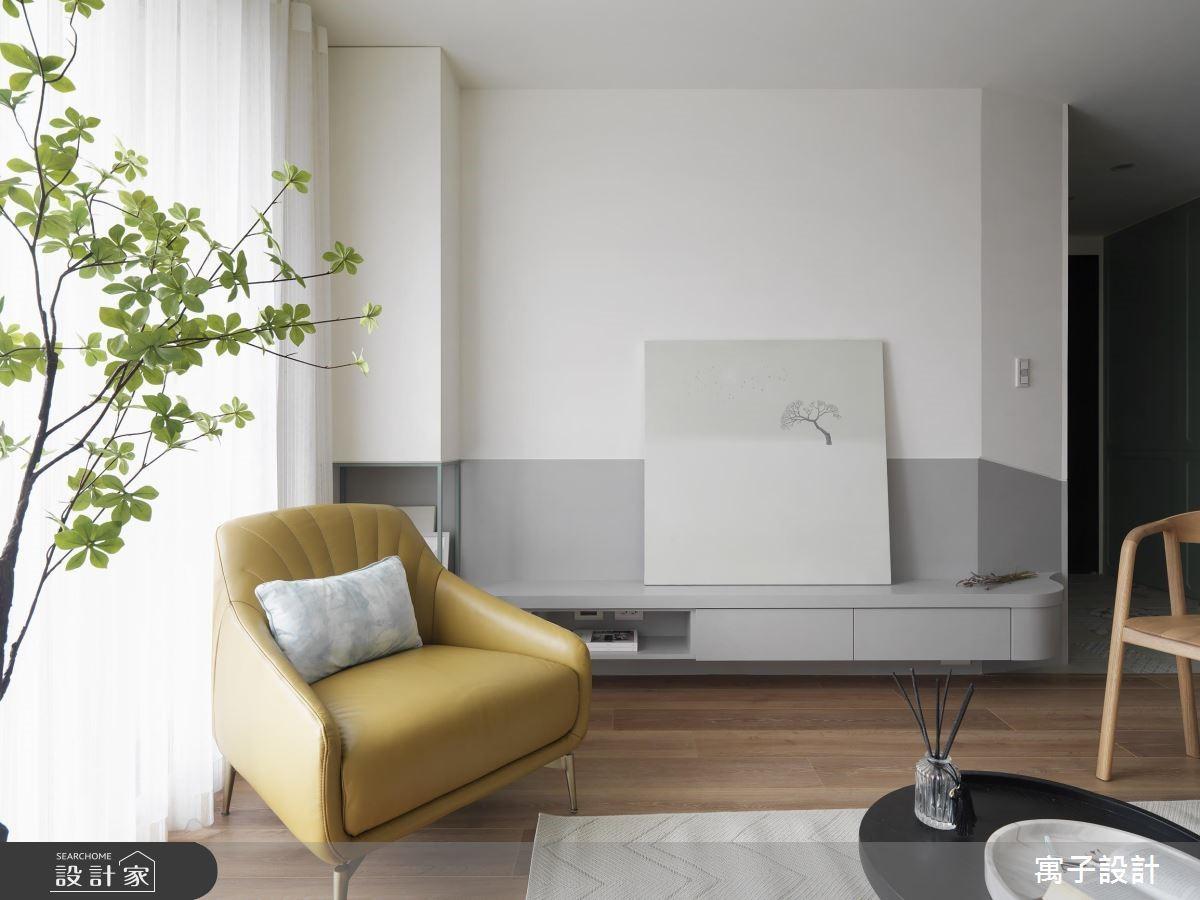 28坪新成屋(5年以下)_北歐風客廳案例圖片_寓子設計_寓子_香草之4