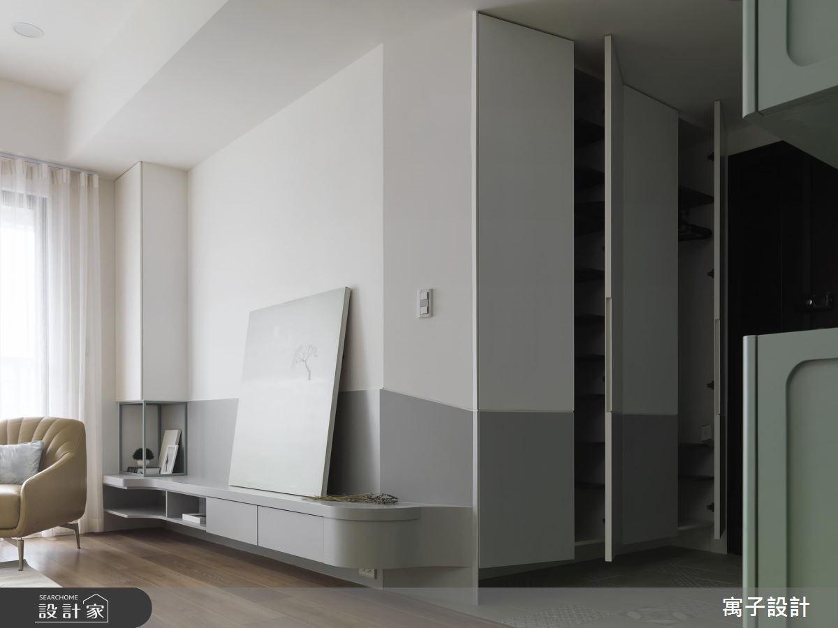 28坪新成屋(5年以下)_北歐風玄關案例圖片_寓子設計_寓子_香草之3
