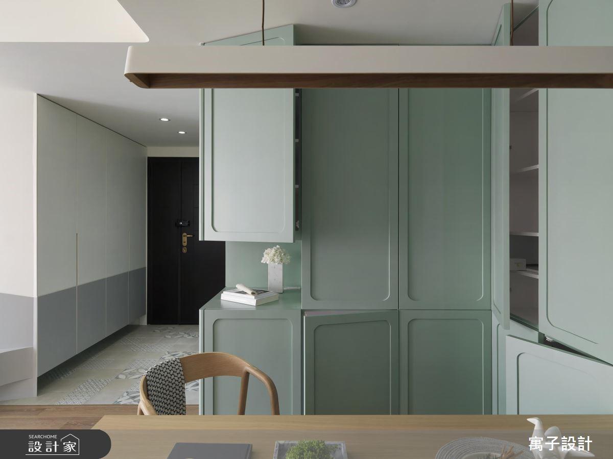 28坪新成屋(5年以下)_北歐風玄關餐廳案例圖片_寓子設計_寓子_香草之2
