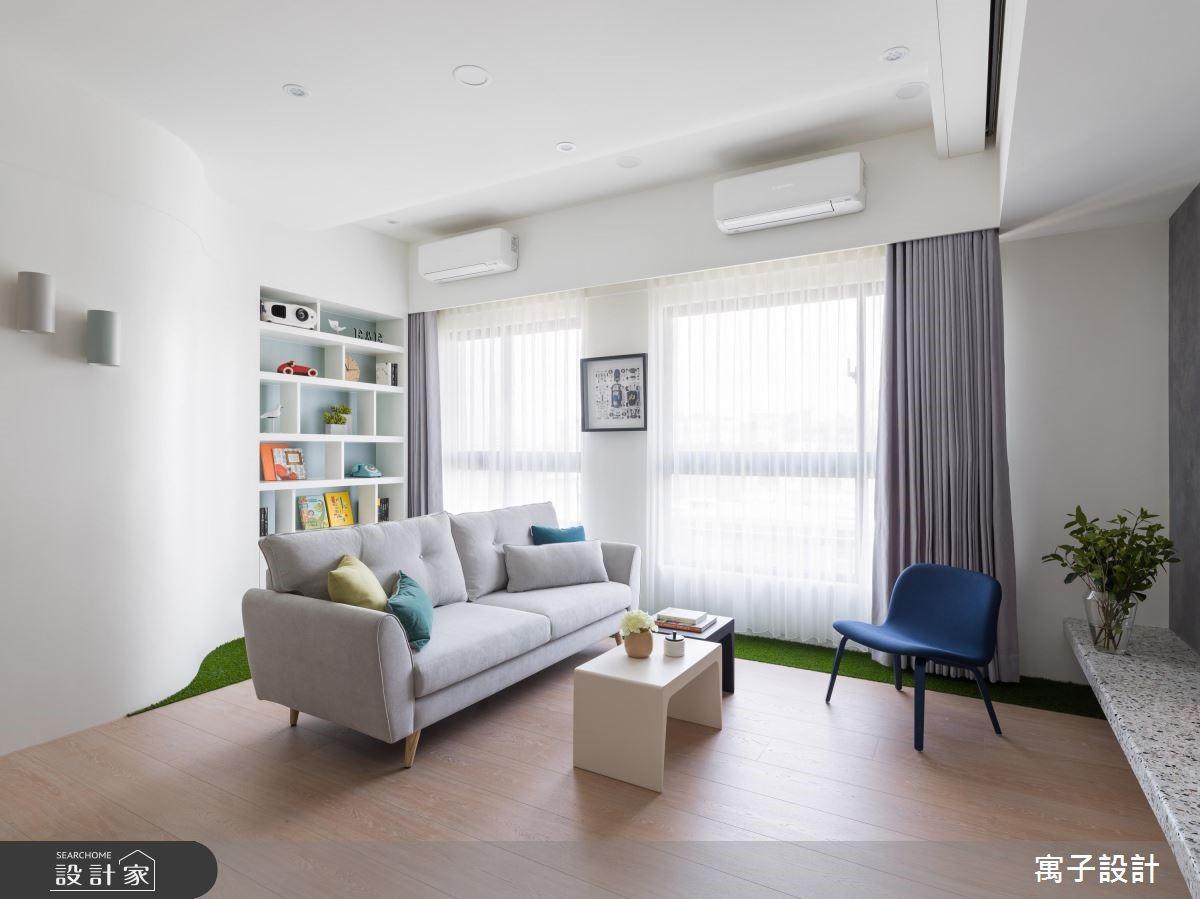 21坪新成屋(5年以下)_北歐風客廳案例圖片_寓子設計_寓子_薄荷森林之1