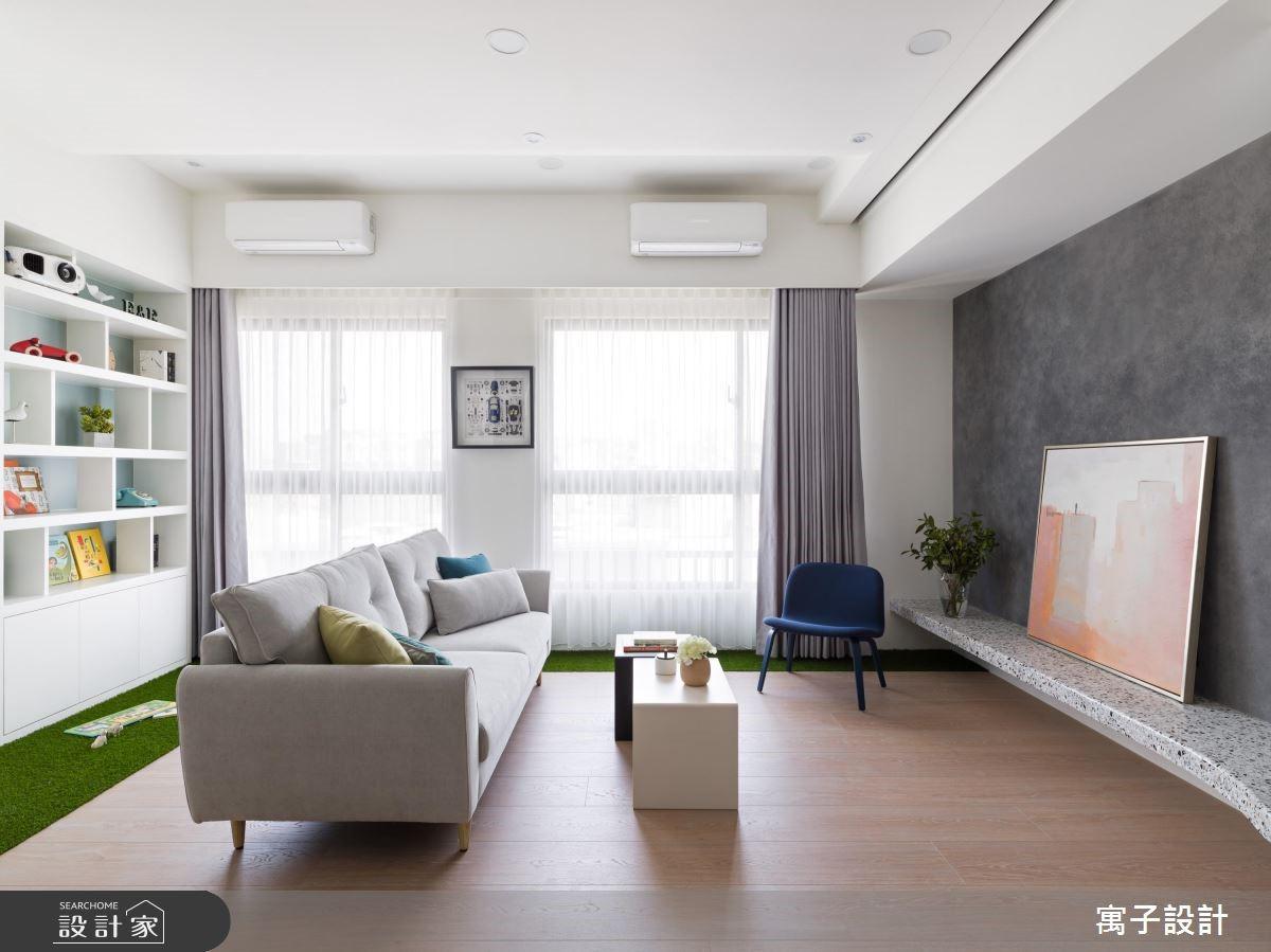 21坪新成屋(5年以下)_北歐風客廳案例圖片_寓子設計_寓子_薄荷森林之2