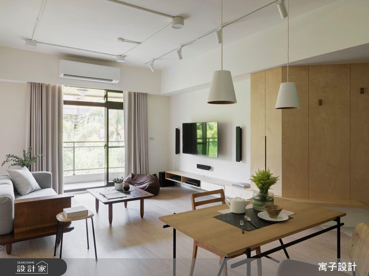 25坪老屋(16~30年)_北歐風客廳餐廳案例圖片_寓子設計_寓子_mumu之3