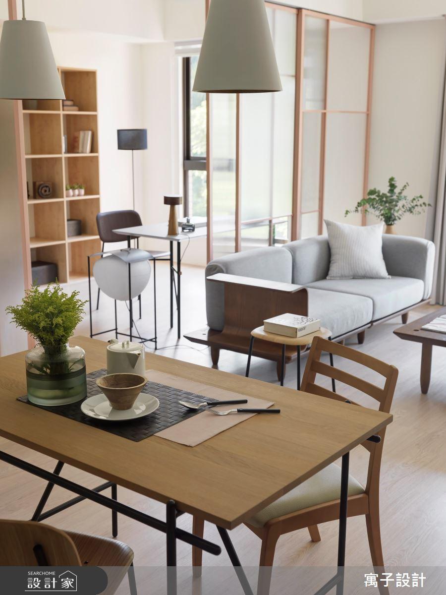 25坪老屋(16~30年)_北歐風客廳餐廳案例圖片_寓子設計_寓子_mumu之4