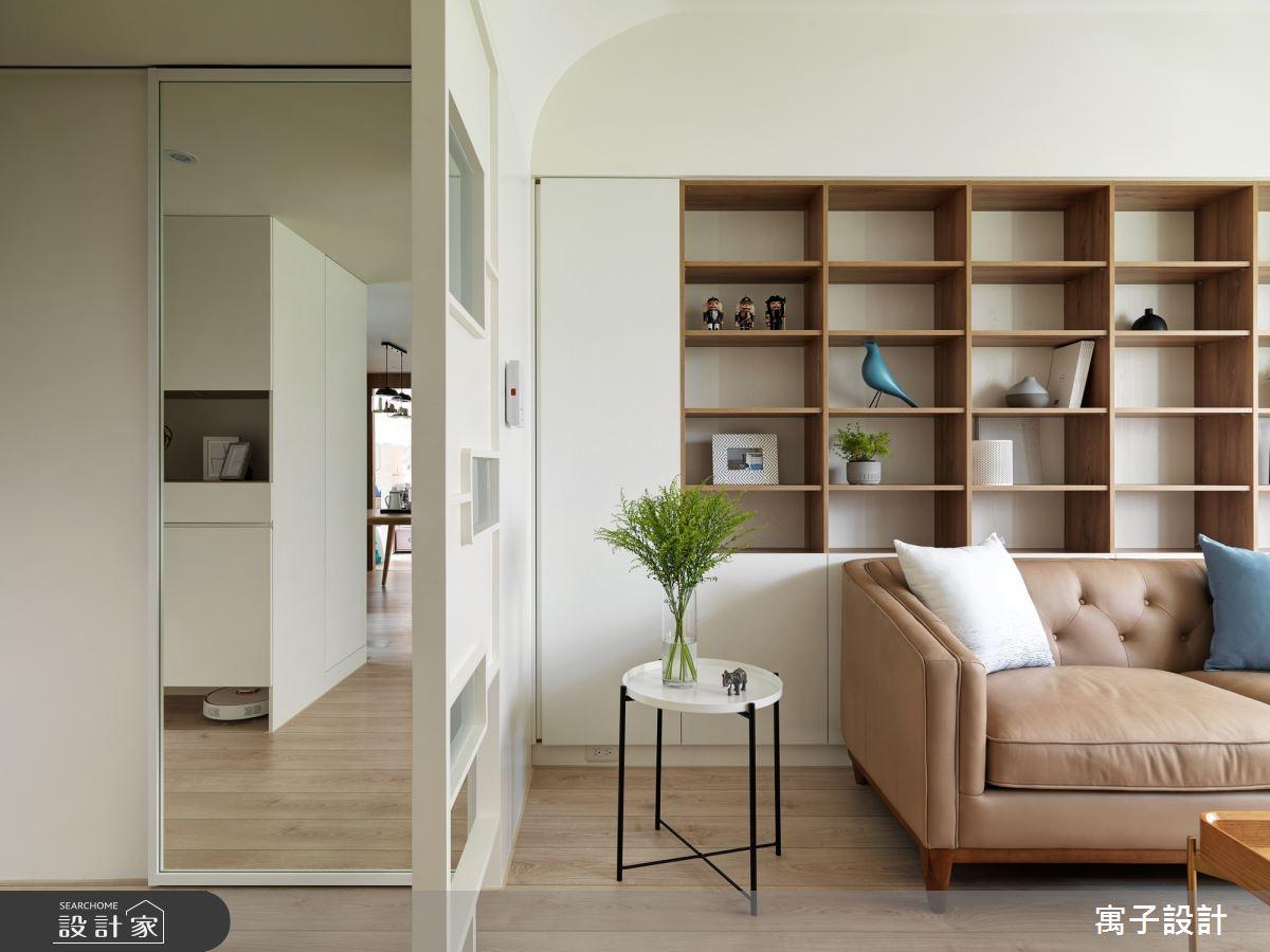 30坪新成屋(5年以下)_北歐風客廳案例圖片_寓子設計_寓子_旅行之3