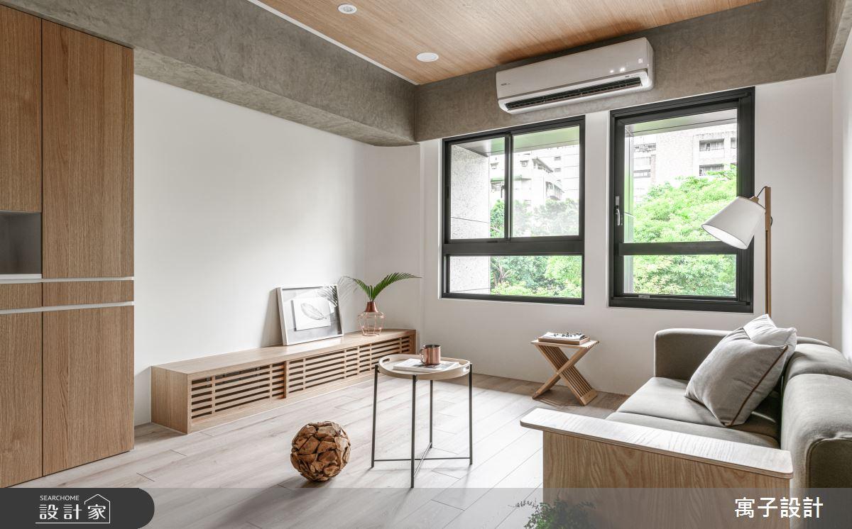 30坪新成屋(5年以下)_休閒多元客廳案例圖片_寓子設計_寓子_木果果之2