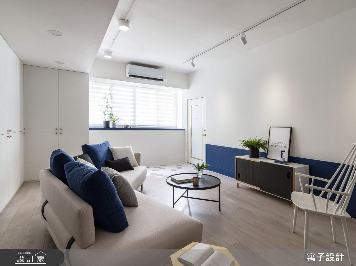 35坪老屋(16~30年)_北歐風客廳案例圖片_寓子設計_寓子_chouchou之3