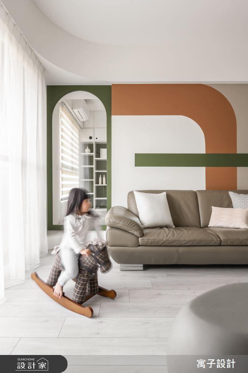 35坪新成屋(5年以下)_北歐風客廳案例圖片_寓子設計_寓子_草原拿鐵之4