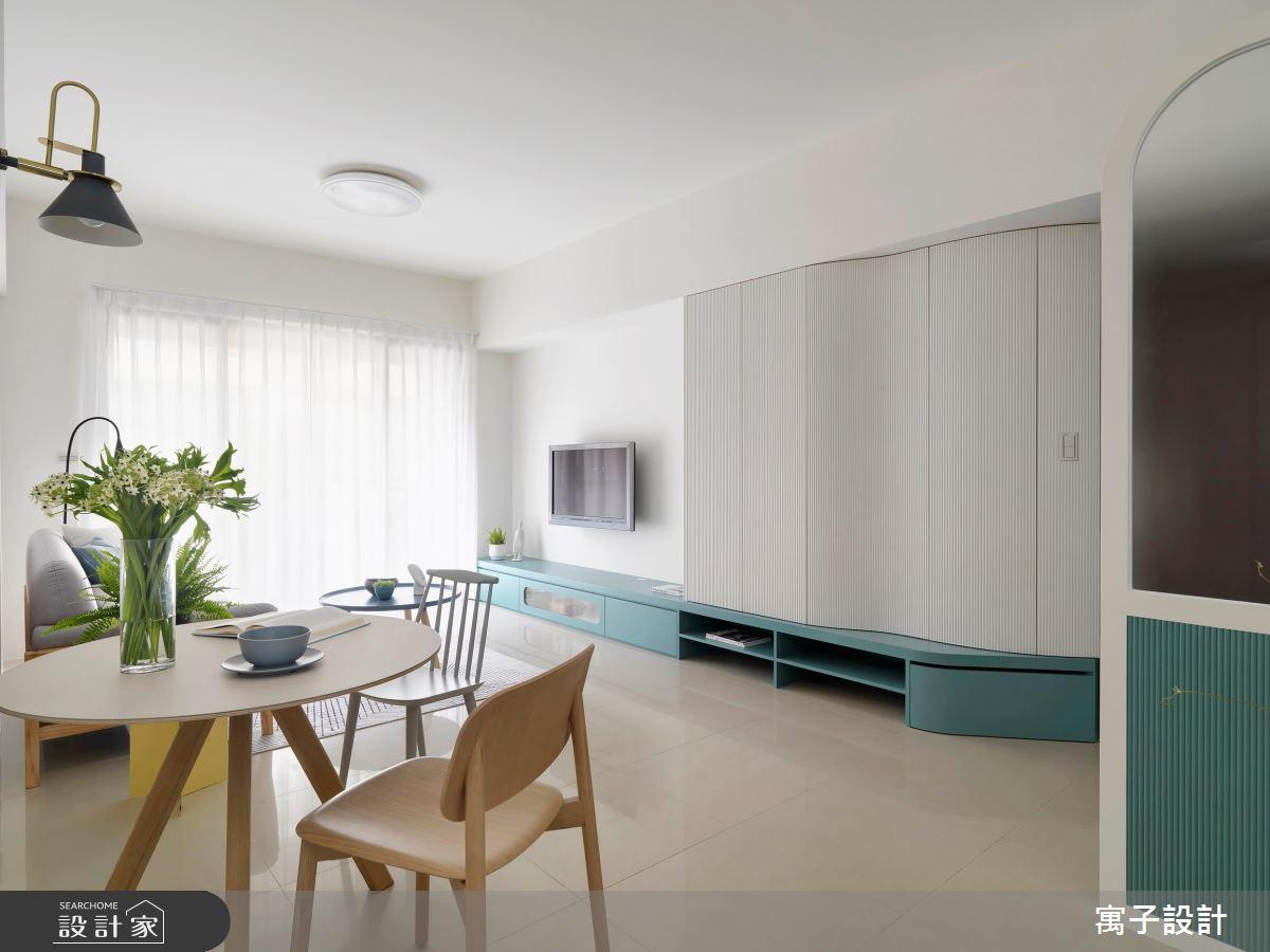 20坪老屋(16~30年)_北歐風客廳餐廳案例圖片_寓子設計_寓子_Wish之3