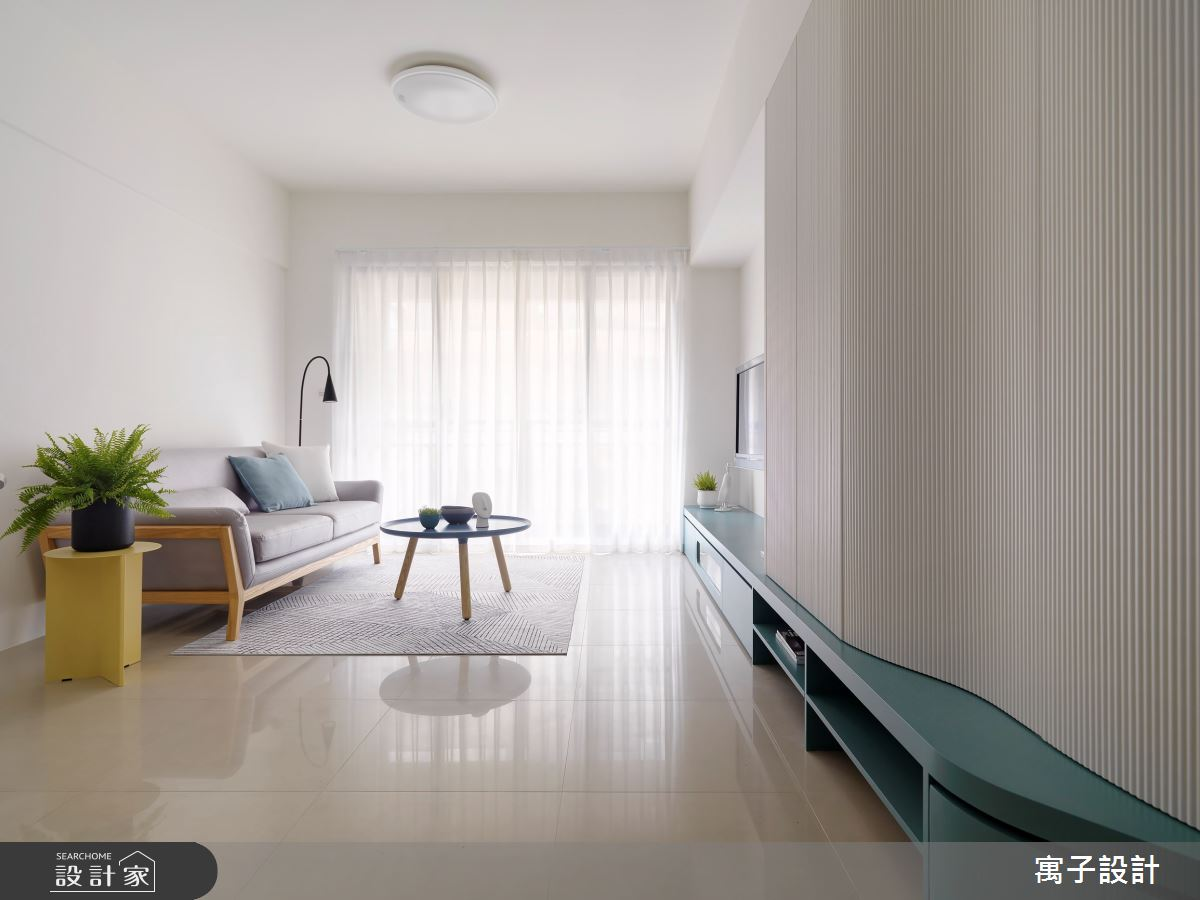 20坪老屋(16~30年)_北歐風客廳案例圖片_寓子設計_寓子_Wish之1