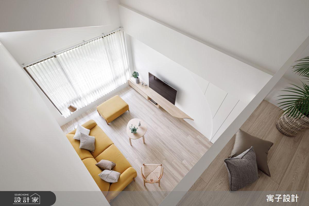 32坪老屋(16~30年)_北歐風客廳案例圖片_寓子設計_寓子_一抹奶油之4