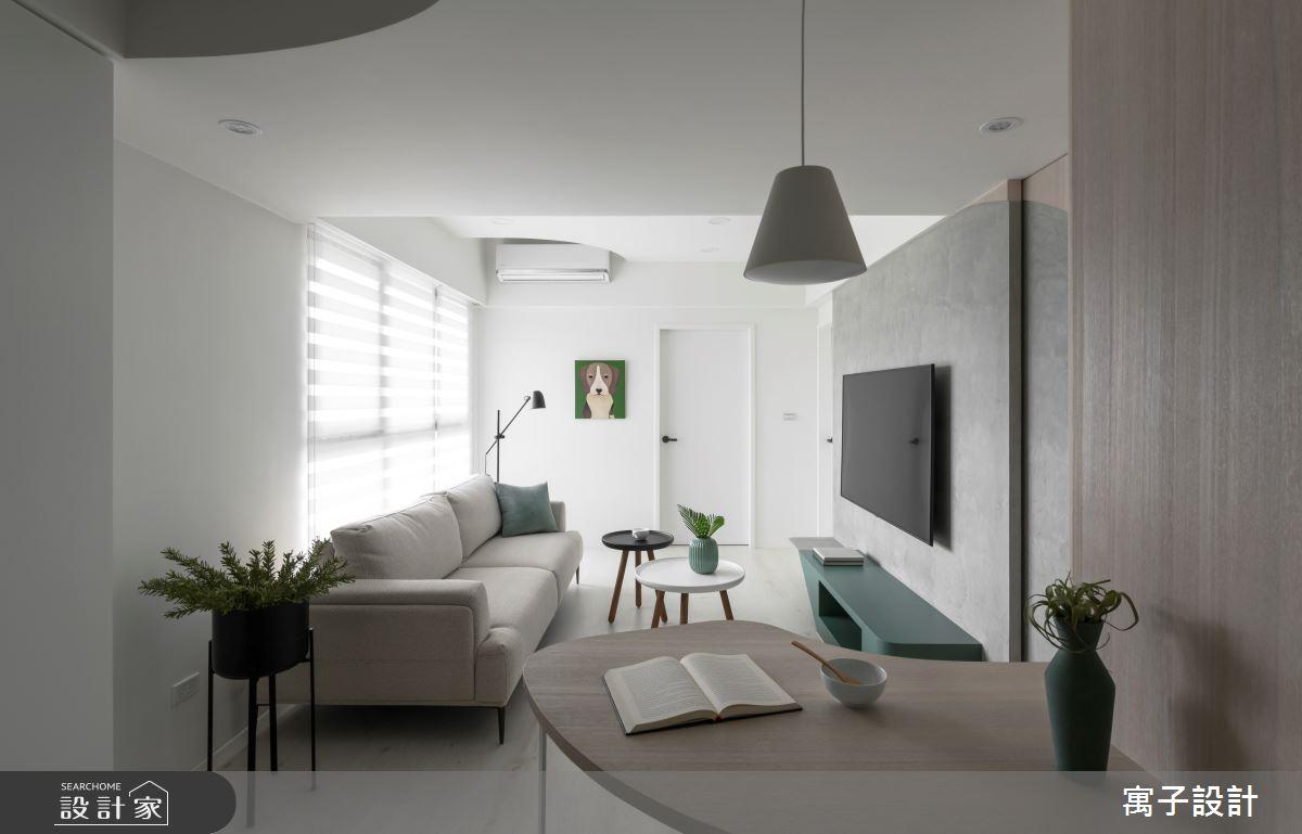 20坪新成屋(5年以下)_北歐風客廳案例圖片_寓子設計_寓子_彼得潘之4