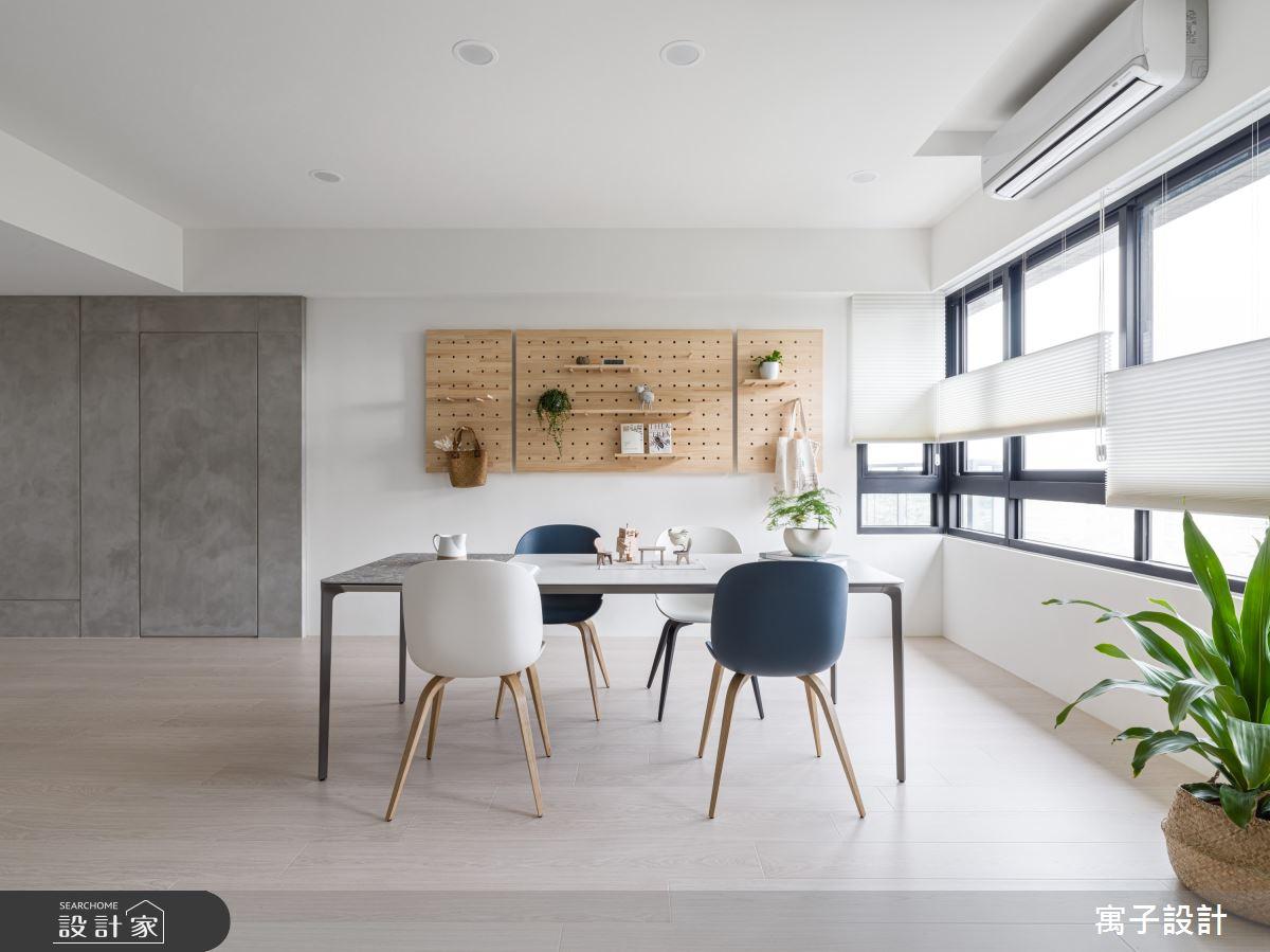35坪新成屋(5年以下)_北歐風餐廳案例圖片_寓子設計_寓子_光合森林之4