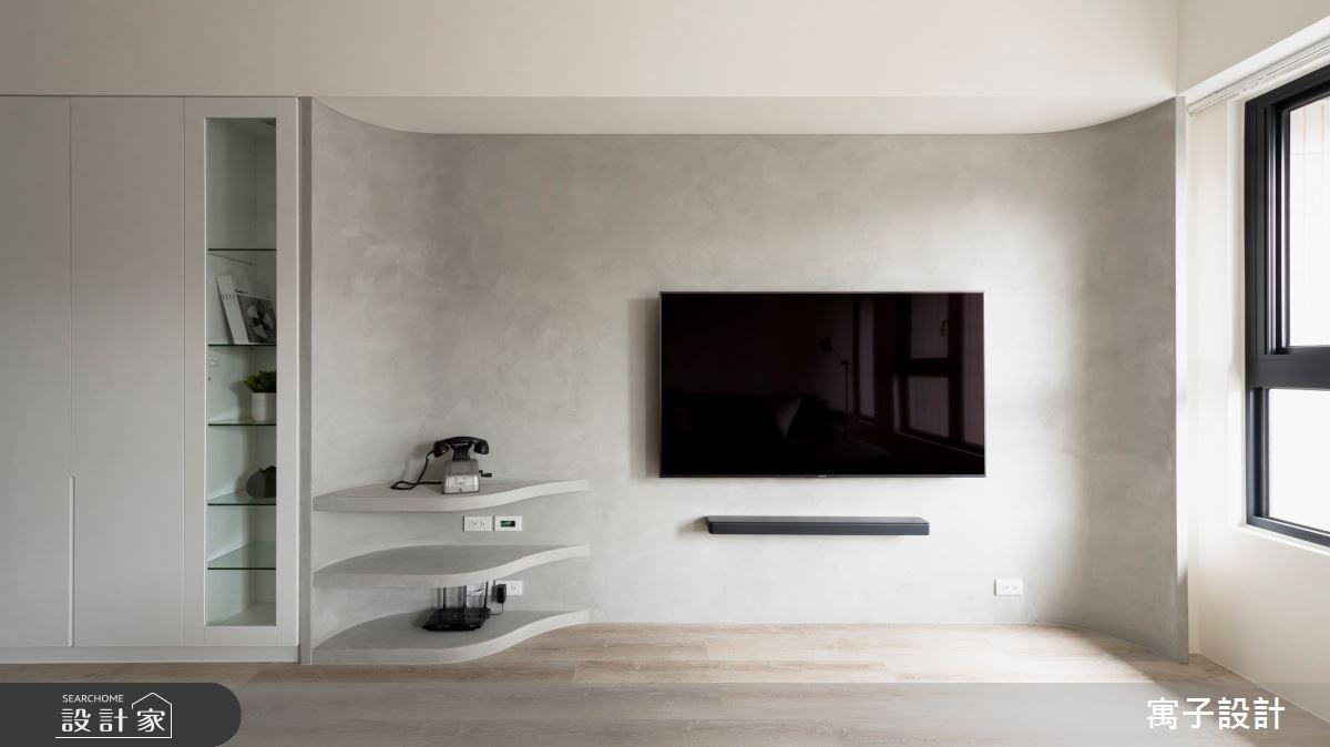 32坪新成屋(5年以下)_北歐風客廳案例圖片_寓子設計_寓子_1+1=3之4