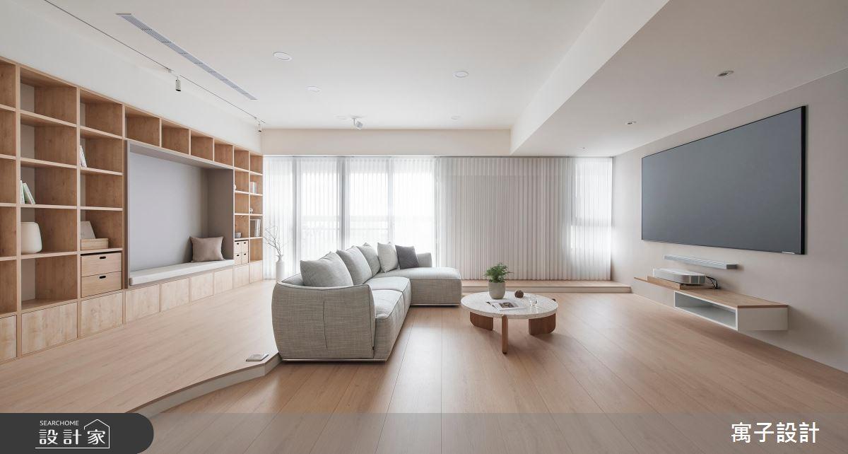 28坪新成屋(5年以下)_北歐風客廳案例圖片_寓子設計_寓子_悠悠之2